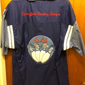 The Simpsons Bowling Shirt. Men's large